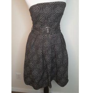 Zara Basic Strapless Dress with Bubble Skirt
